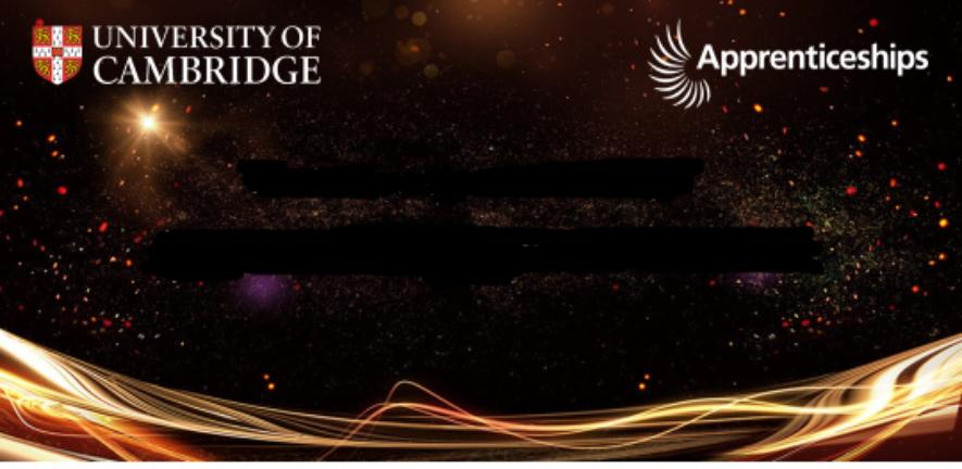 A promotional poster for the awards event