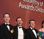 The Raspberry Pi team accepts the MacRobert Award at the Royal Academy of Engineering Awards Dinner 2017