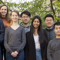 Hansong Ma (bottom right) and her research group