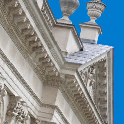 Senate House against a blue sky