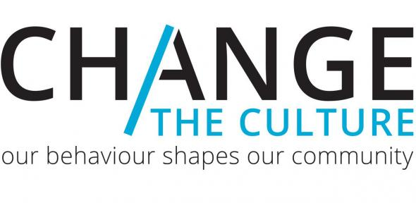 A logo for the Change the Culture campaign